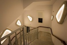 Hotel stairs in #Greece #lighting #ESPdesign #wall #MediterraneanBeachHotel #projects #contract #private #stairs #corridor
