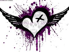 wings | Wings MySpace Layouts, Backgrounds Heart With Wings, Free ...
