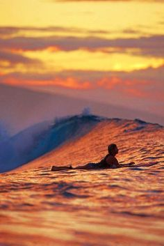 Sunset watching from a surf board. Love it!