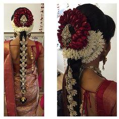 www.sameepam.com   Beautiful tamil bridal flower hair do