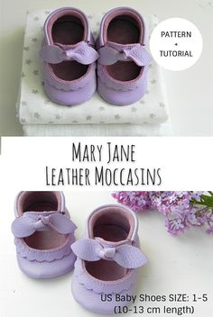 Baby diy shoes mary janes ideas for 2019 Baby Moccasin Pattern, Baby Shoes Pattern, Moccasins Pattern, Mary Janes, Shoe Template, Baby Shoe Sizes, Leather Baby Shoes, Leather Pattern, Baby Boots