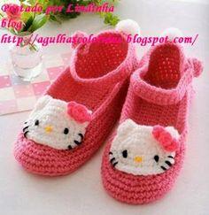 sandalias a crochet | Esta hermosura de zapatilla tiene su patron mas abajito espero lo ...