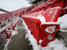Snowy Arrowhead Stadium