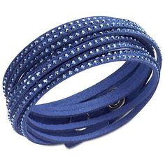 Swarovski Slake Dark Blue Bracelet ($69) ❤ liked on Polyvore featuring jewelry, bracelets, accessories, pulseiras, blue, snap button bracelet, adjustable bangle bracelet, blue jewelry, adjustable bracelet and bracelets & bangles