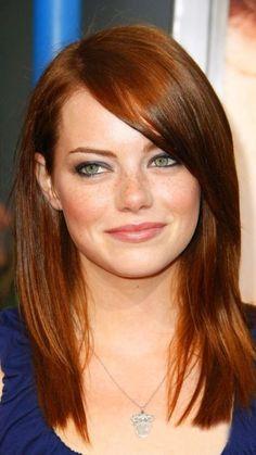 Emma Stone Auburn Haarfarbe