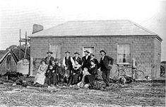 Adobe or mud brick construction mid Brick Construction, Victoria Australia, Old Skool, Sustainable Living, Victorian Homes, Oklahoma, Mud, Vintage Photos, Past
