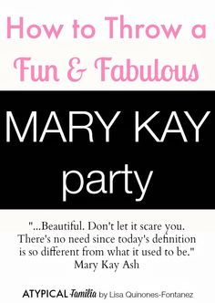 How to Throw a Mary Kay Party
