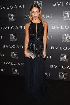 Pin for Later: Best Dressed: Die schönsten Looks der ganzen Woche Liliana Nova Glamourös gab sich Liliana in einem mit Pailletten besetzten Abendkleid bei einem Event in Venedig.