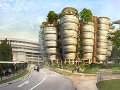 Thomas Heatherwick Designs a Futuristic Learning Hub for Nanyang University in Singapore   Inhabitat - Sustainable Design Innovation, Eco Architecture, Green Building