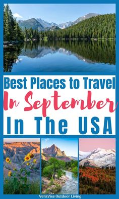 If you are looking for a last minute summer road trip, check out these best places to travel in the US in September for a fun family adventure. Affordable Family Vacations, Vacations In The Us, Honeymoon Destinations Usa, Family Vacation Destinations, Best Places To Vacation, Best Places To Camp, West Coast Road Trip, Road Trip Usa, Road Trip Packing