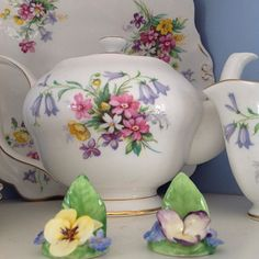 My Great Aunt Doris was a 'spinster' career woman practically before it was legal! She trained as a nurse during the London blitz and retired as Matron in charge of a hospital. This was one of her tea sets and every time we take tea I get to remember a woman with backbone who was always a Lady .