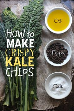 How To Make Crispy Kale Chips | http://www.beardandbonnet.com | #glutenfree #vegan.Cook in preheated AIRFRYER at 200deg, and start checking at around 6 minutes. Don't walk away...they will burn quickly if left unattended.