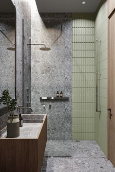 BARIN HOUSE on Behance Washroom Design, Bathroom Design Luxury, Upstairs Bathrooms, Small Bathroom, Bathroom Inspiration, Interior Design Inspiration, Tadelakt, Bathroom Toilets, Home Room Design
