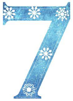 Free Frozen Snowflake Numbers