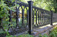 Pergolas For Sale Cheap Wrought Iron Fence Panels, Wrought Iron Gates, Backyard Fences, Garden Fencing, Garden Railings, Palisade Fence, Metalarte, Rustic Gardens, Fence Design
