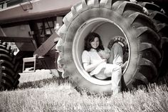 senior picture ideas for country girls | senior portraits ionia farm girl 209 A Girl and her Combine Ionia ...