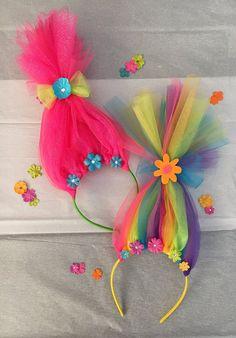 Poppy Inspired Troll Headband by SprinkleBoutiqueChic on Etsy Trolls Birthday Party, Troll Party, 3rd Birthday Parties, 2nd Birthday, Theme Color, Troll Costume, Costumes, Los Trolls, Princess Poppy