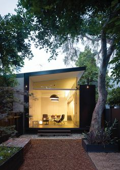 Without altering its turn-of-the-20th-century facade, architect Christopher Polly transformed the rear of this Newtown, Australia, home from bleak to bright. Photo by Brett Boardman Read more: http://www.dwell.com/articles/Back-Storied.html##ixzz2165vpFF4