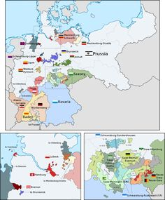 Organization of the German Empire in Europe, Century, Century, Europe, Germany) History Of Germany, Germany And Prussia, Alternate History, Old Maps, European History, Historical Maps, Organization, Flags, Author