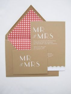 Picnic inspired wedding invites!!