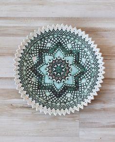 Unique folk ceramic plate on Etsy, 350,00zł