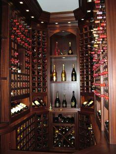 Custom Wine Room by woodwork Refined