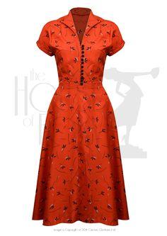 40s Hostess Dress - vintage rayon