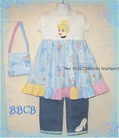 Cinderella Disney Princess Outfit  for sale on ebay type in BBCB   Birthday Party Pageant Girls Dress  Blue Birds Childrens Boutique   BBCB