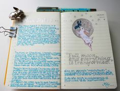 Moon rabbit #art #journal