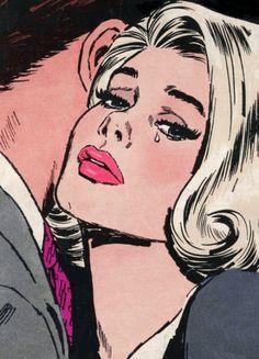 Vintagegal: falling in love - comic slams! art в Cartoon Kunst, Comic Kunst, Cartoon Art, Comic Art, Bd Pop Art, Pop Art Girl, Pop Art Drawing, Art Drawings, Vintage Pop Art
