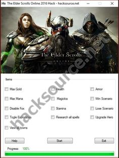 Free no survey download of working The Elder Scrolls Online 2016 Hack is included along with scan under the article. You can scroll to download below, but better take a moment and read instructions. You can see the features in the image above, honestly not all of them are working at this... https://hacksource.net/the-elder-scrolls-online-2016-hack/