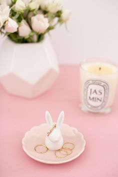 LC Lauren Conrad Bunny Ring Holder Tray - Cell Phone Ring Stand - Ideas of Cell Phone Ring Stand - LC Lauren Conrad for Kohls Bunny Ring Holder Car Cell Phone Holder, Iphone Holder, Iphone Cases, Lc Lauren Conrad, New Mobile Phones, Diy Upcycling, Ring Stand, Jewelry Holder, Ring Holders