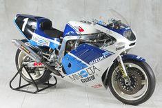 Photos: 33 Years of Suzuki Endurance Road Racing - Asphalt & Rubber Suzuki Gsx R 750, Gsxr 750, Suzuki Motos, Suzuki Bikes, Street Motorcycles, Racing Motorcycles, Vintage Bikes, Vintage Motorcycles, Custom Motorcycles