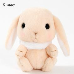 Pote Usa Loppy Fur Collar Rabbit Plush Collection (Standard) 6