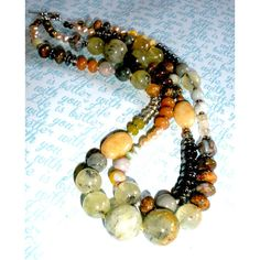 CHUNKY GEMSTONE NECKLACE, Chunky Gemstone Handcrafted Beaded Necklace,... (205 ILS) ❤ liked on Polyvore featuring jewelry, necklaces, blue pearl necklace, gemstone necklaces, pearl bead necklace, pearl strand necklace and jade bead necklace