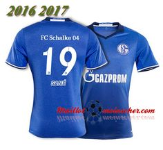 Les Nouveaux Maillot Schalke 04 SANE 19 Domicile Bleu 2016 2017: fr-moinscher