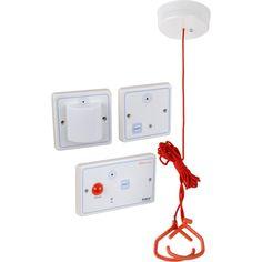 Bathroom Emergency Pull Cord Alarm With Wireless