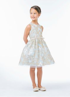 You will want to enlarge the picture to see the pretty butterfly sequin designs throughout the dress, $51.99
