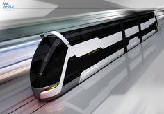 Double-decker train concept by Grzegorz Rozwadowski's