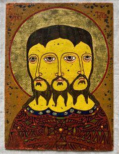 Siberian  Trinity.  Russian  icon.