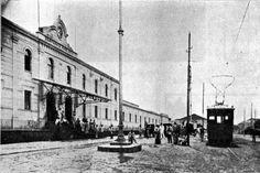1910 - São Carlos - SP - Estação Ferroviária da Companhia Paulista de Estadas de Ferro.