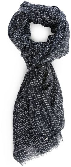 IKKS Navy All-Over Pattern Scarf
