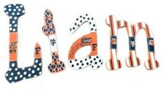 Liam Florida Gators Hand Painted Wall Letters modern baby bedding