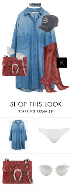"""""""Untitled #3547"""" by kimberlythestylist ❤ liked on Polyvore featuring Zara, Topshop, Gucci and Chicnova Fashion"""