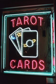 light, neon, and tarot image Wiccan, Magick, Witchcraft, Neon Aesthetic, Witch Aesthetic, Fortune Teller, Circle Of Life, Mood, Neon Lighting