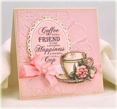 Coffee Cups, Time for You and Rose Vintage Labels Seven | JustRite Papercraft Inspiration Blog