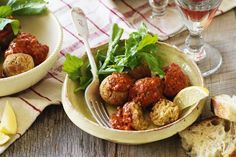 Adapted from a classic Spanish recipe, chickpea balls in romesco sauce makes a tasty tapas dish.