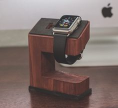 Apple Watch Charging Stand by PandGWoodWork on Etsy https://www.etsy.com/listing/227287083/apple-watch-charging-stand