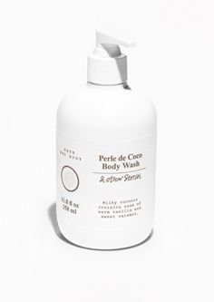 Perle de Coco Body Wash - White - Bodywash - & Other Stories Skin Nutrition, Cool Packaging, Packaging Design, Cosmetic Packaging, Macadamia Oil, Dark Makeup, Natural Makeup, Cruelty Free Makeup, Cards