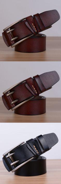 Genuine Leather Mens Belts Luxury Pin Buckle Designer Belts For Men Fashion Cinturon Hombre Cintos Masculino Marcas Ceinture Hot $15.59